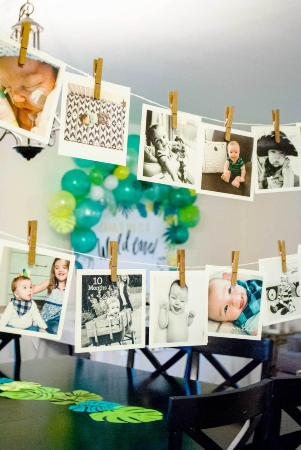 First Birthday Photo Display