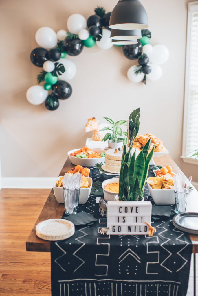Coves Modern Jungle First Birthday Party Project Nursery