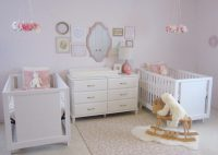 Pink, White and Gold Twin Nursery
