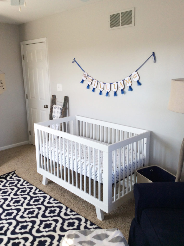 Bold Yellow Green and Navy Nursery  Project Nursery