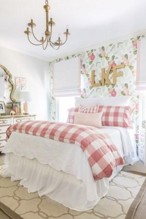 nursery floral rooms bedding bedroom beloved grows bedrooms projectnursery gingham reveal senses styleyoursenses favorite flower boys bed girly mailbox valentine