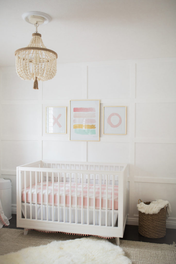 Baby Girl Nursery Wallpaper The Posh Home Bright White And Pink Baby Girl Nursery