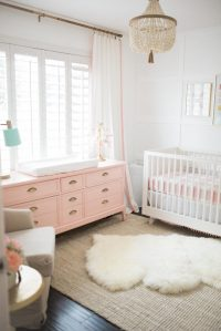 The Posh Home Bright White and Pink Baby Girl Nursery ...