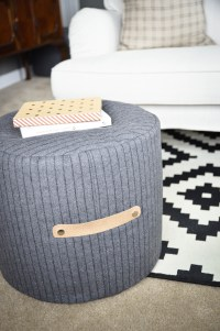 DIY Floor Pouf Tutorial - Project Nursery