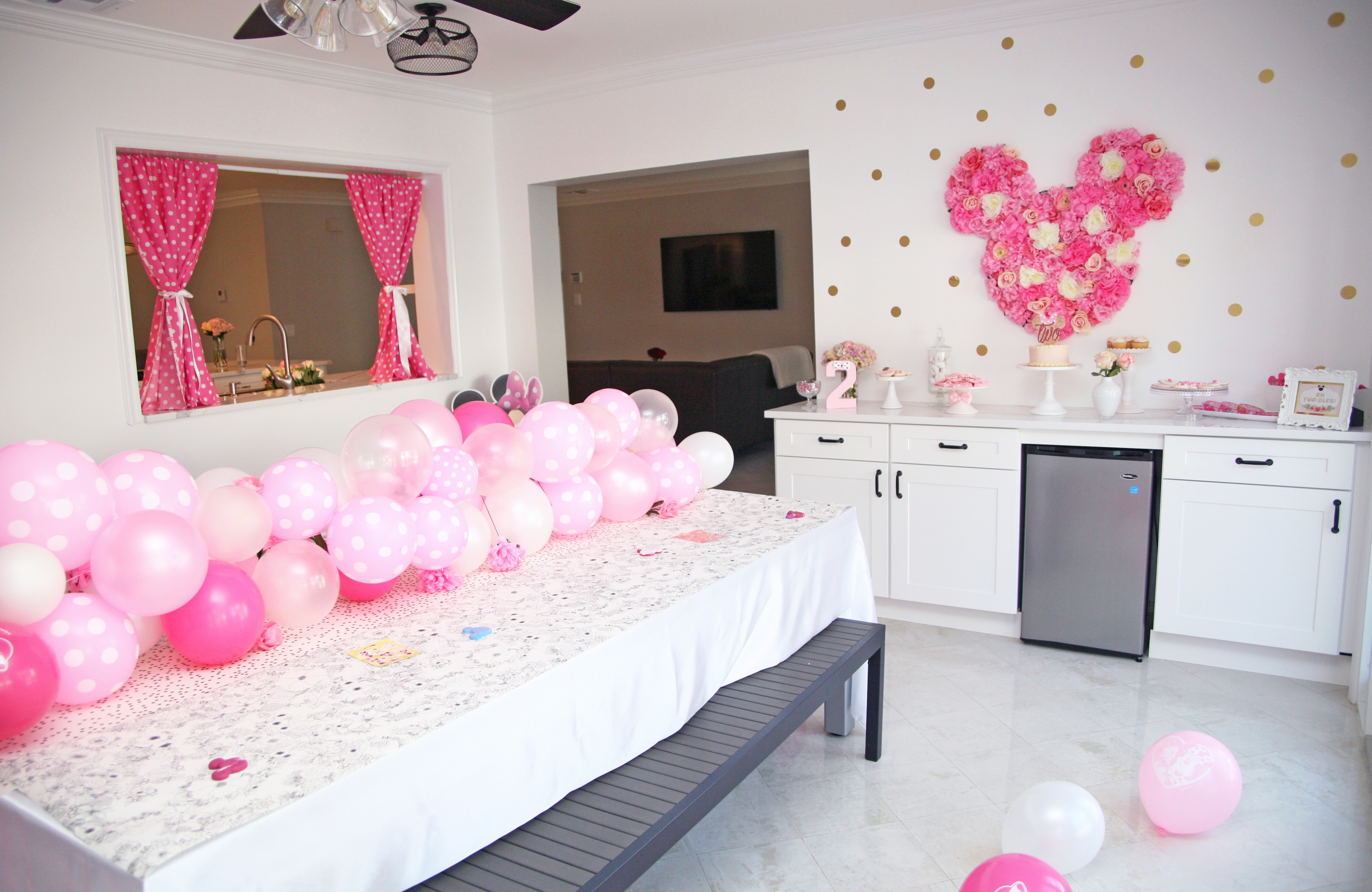 Floral Minnie Mouse Birthday Party Project Nursery