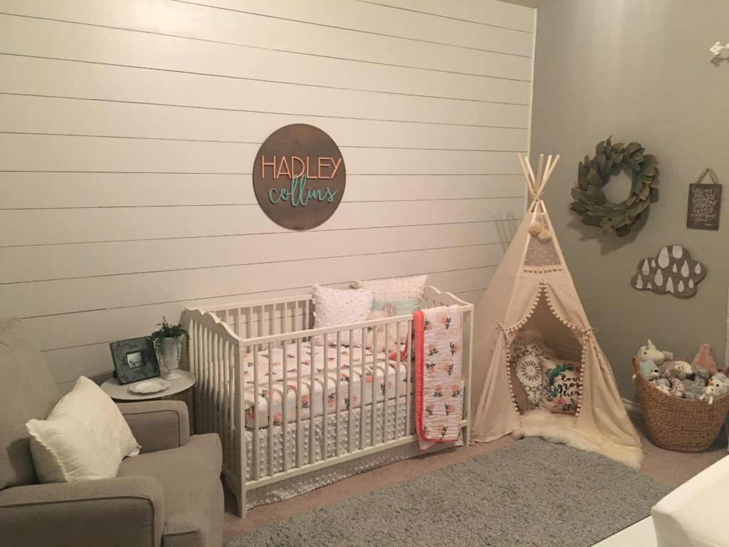 Hadleys Serene Shiplap Nursery  Project Nursery