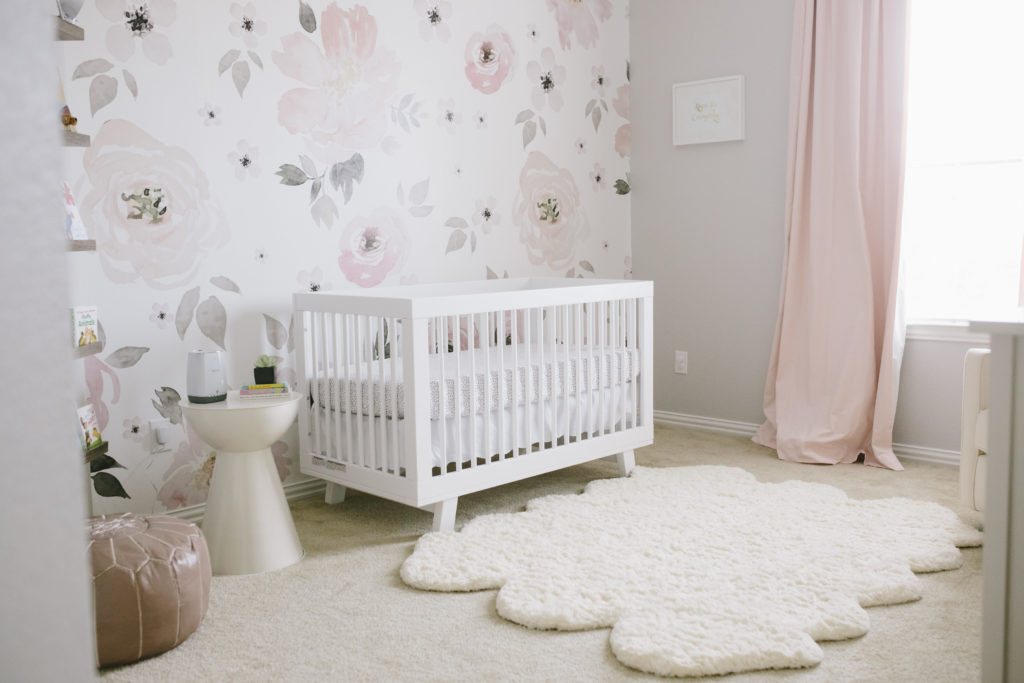 Baby Girl Nursery Removable Wallpaper Baby Showers Bring Decorative Wall Flowers Project Nursery