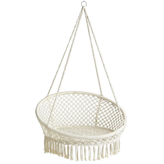 hanging kids chair top rated high chairs 2018 trendspotting are swinging into design macrame hammock
