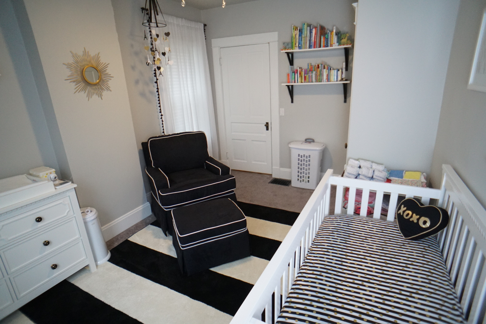 Baby Girls Black White And Gold Nursery Project Nursery
