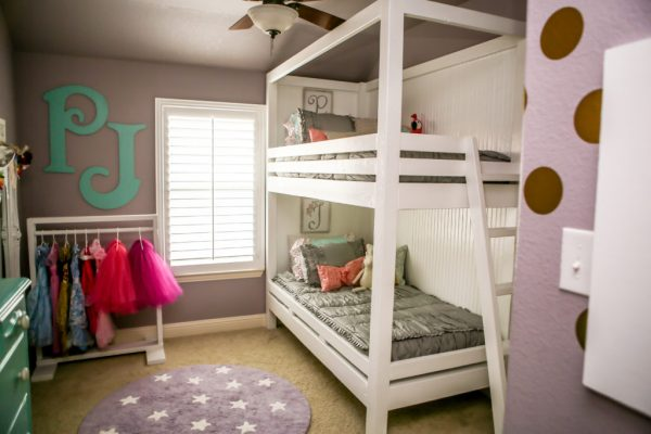 Parker Jolie' Big Girl Bunk Beds Room - Project Nursery