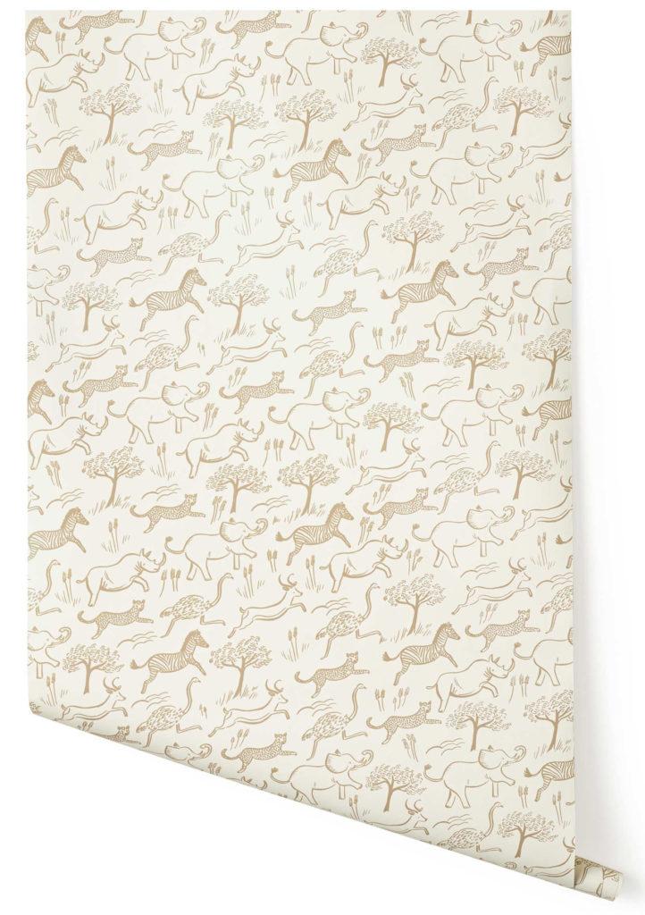Hygge & West Nursery Safari Wallpaper | Little Crown Interiors