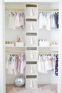 How to Create a Glam Custom Nursery Closet on a Budget ...