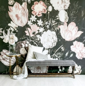 nursery decal floral mural dark blossoms surprising trends wall