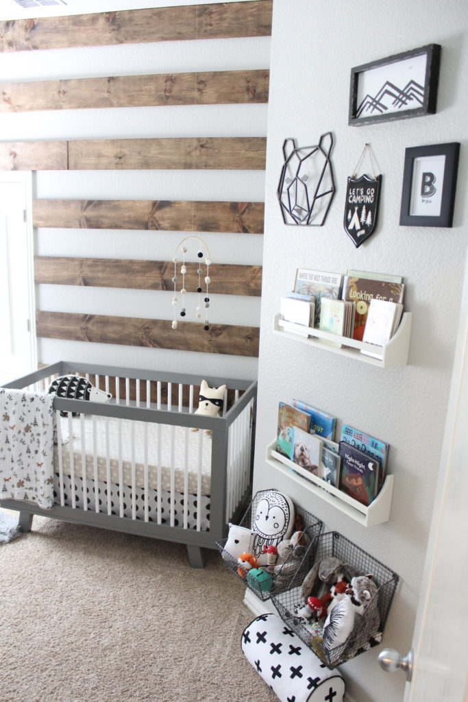 Bryces Rustic Meets Modern Monochrome Nursery  Project