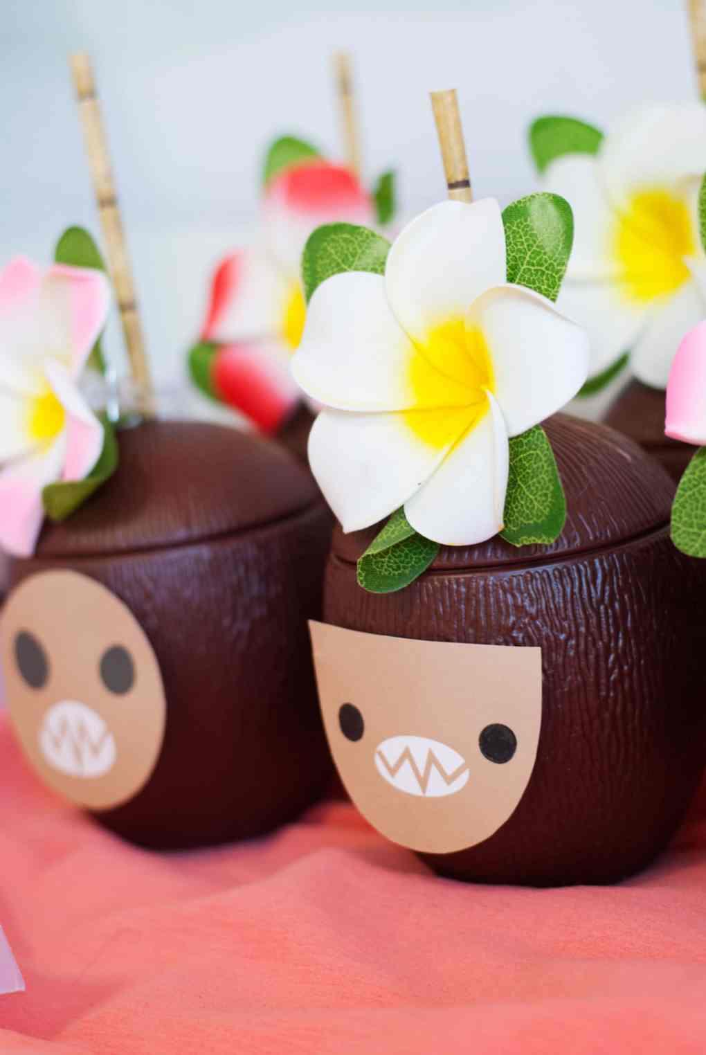 Moana Birthday Party Ideas Coconut Cups - Project Nursery
