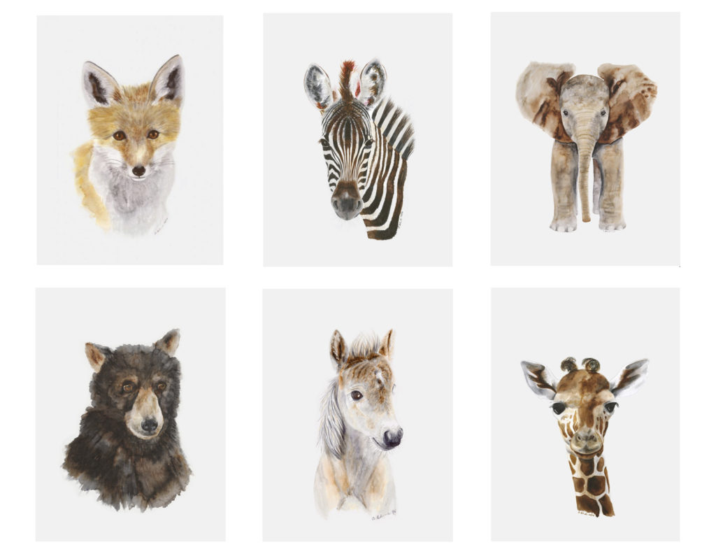 Baby Animals Nursery Art | Little Crown Interiors
