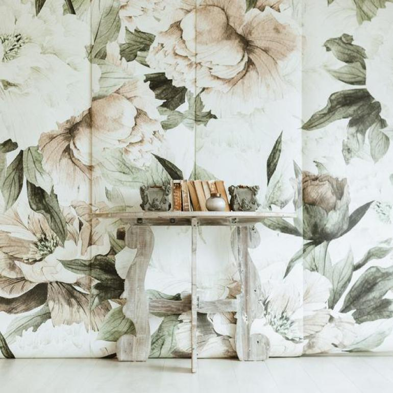 Anewall Blush Floral Wall Mural