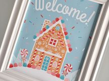 This Welcome Sign is perfect for your Gingerbread House Party!
