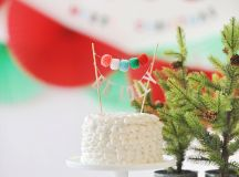 Be Jolly Cake with Pom Pom Banner