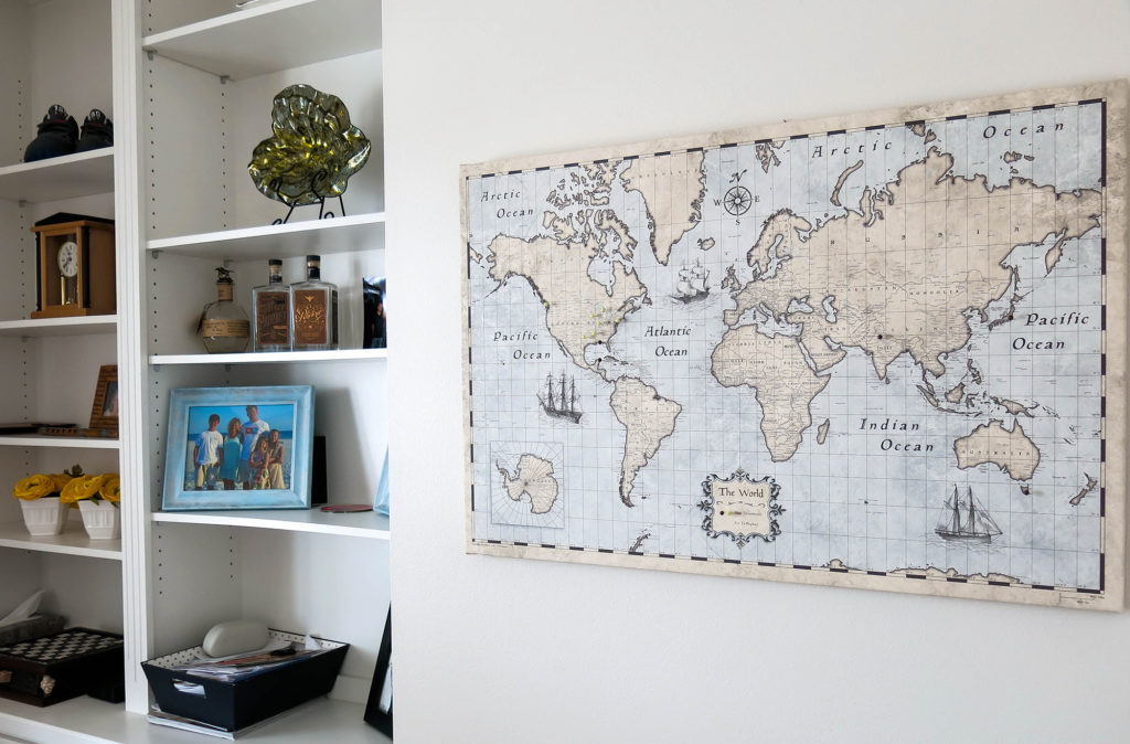 Awesome! Nurture Your Family's Wanderlust With This Pinnable Map