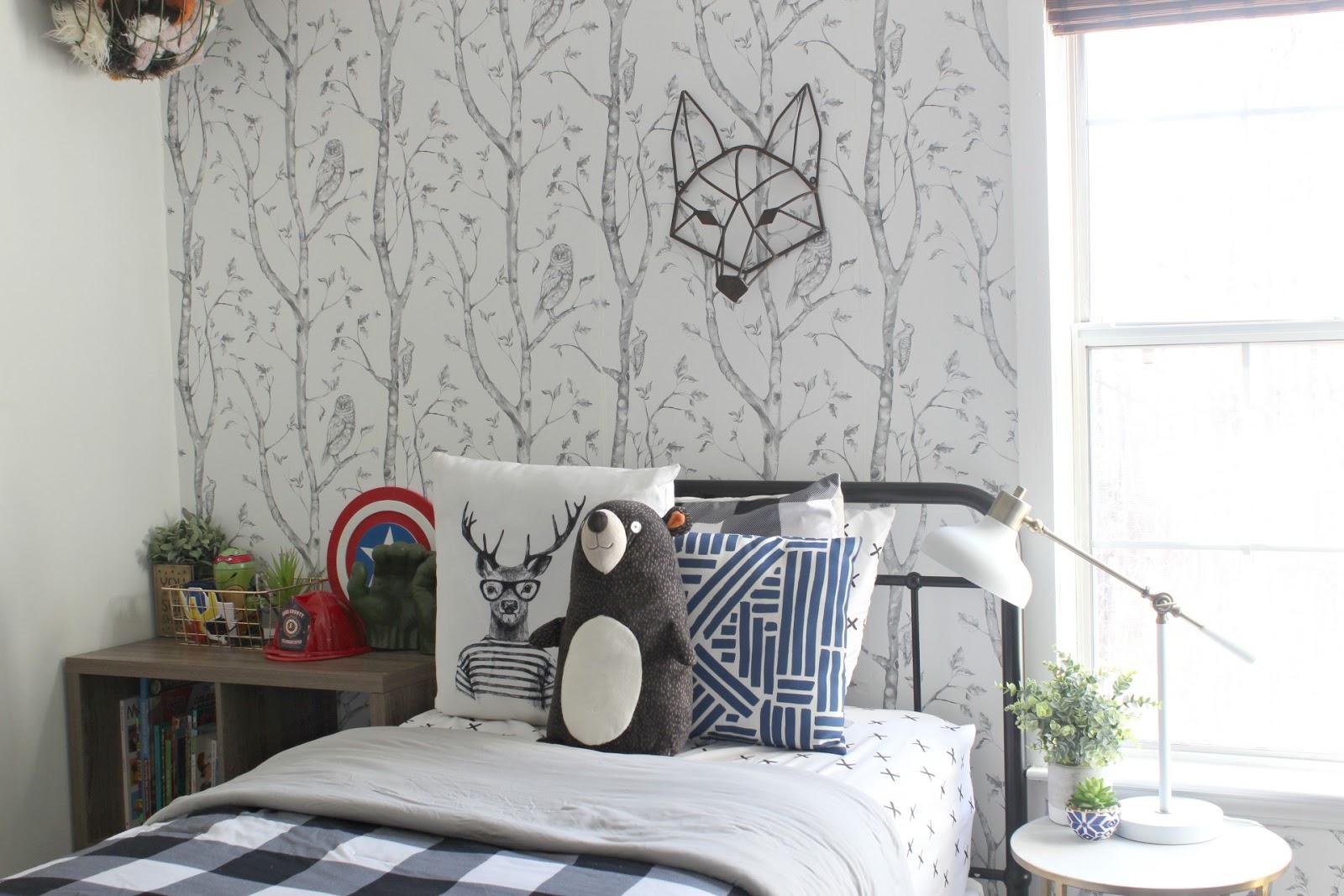 Big Boy Room Reveal: A Woodsy, Creative, Imaginative Space