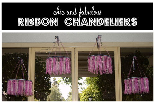Diy Ribbon Chandelier Tutorial
