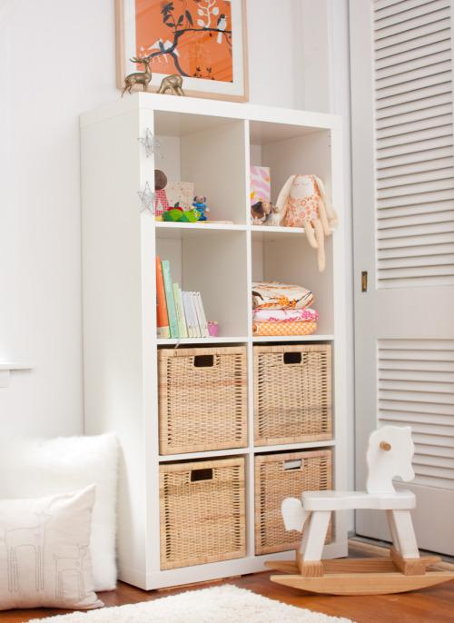 Modern Pink and Orange Girls Nursery