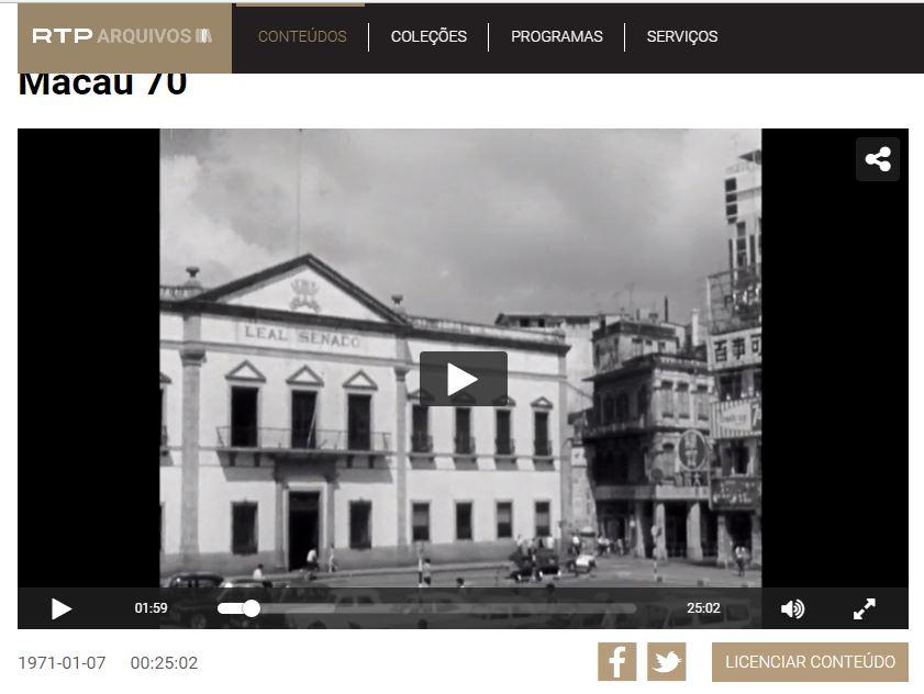 Vídeo 'Macau 70' da RTP mata saudades, assista …