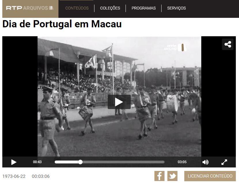 O Dia de Portugal na Macau portuguesa de 1973, em vídeo da RTP