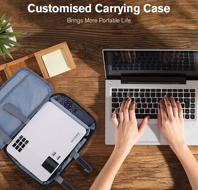 included carrying case l21 projector