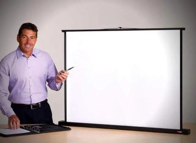 01 Các loại màn hình máy chiếu khác nhau 14 Màn hình máy chiếu để bàn