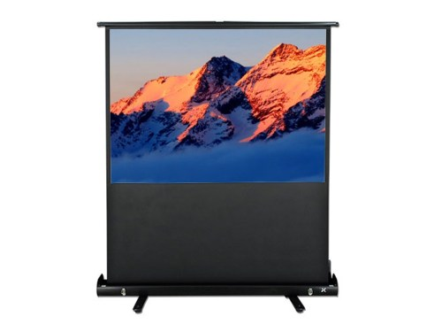 """JK 92"""" 16:10 White Fabric Portable Pull-Up Projection Screen"""