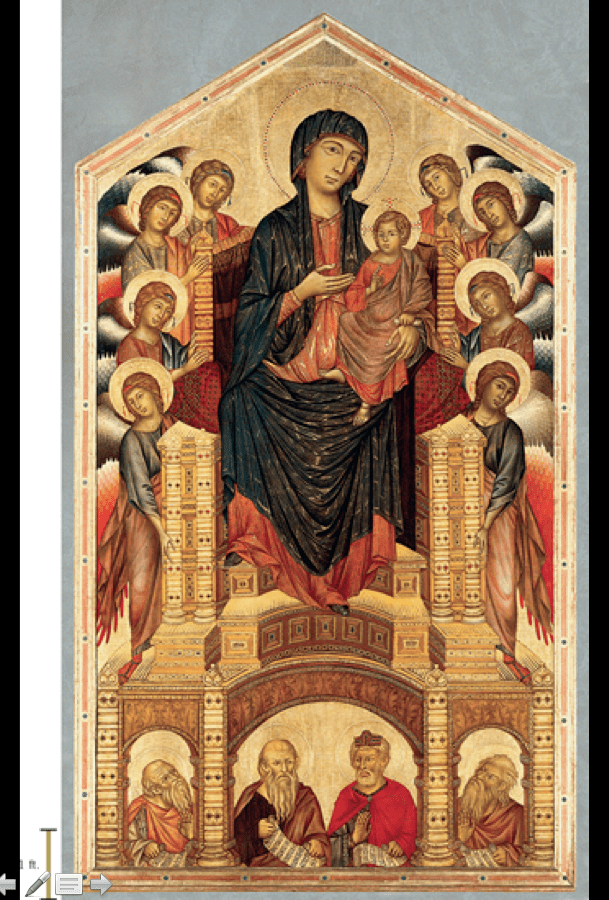 Cimabue Madonna Enthroned With Angels And Prophets : cimabue, madonna, enthroned, angels, prophets, Cimabue, Madonna, Enthroned, Angels, Prophets