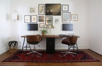 Two-Person Desk and Gallery Wall  Project Palermo