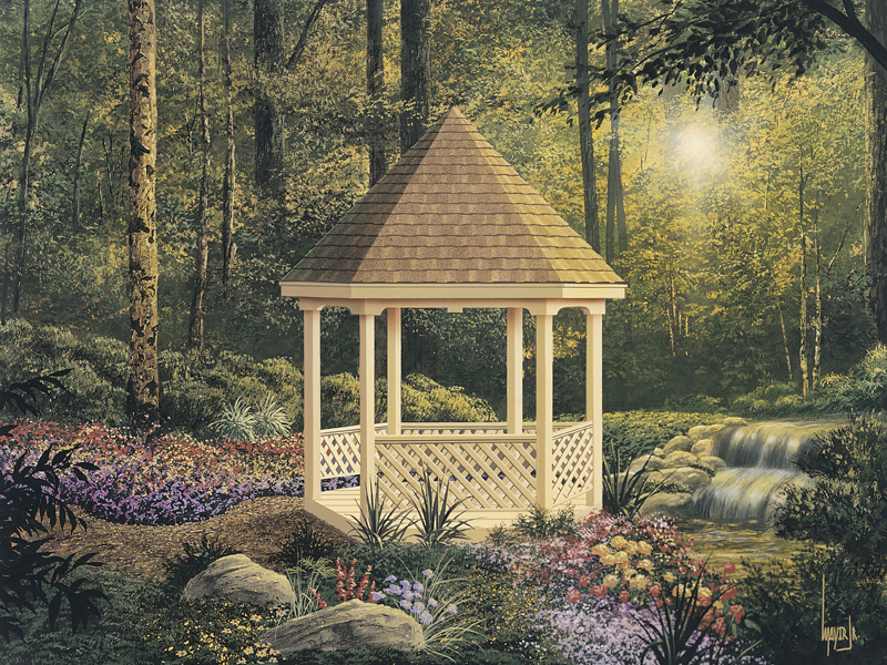 Somerset SixSided Gazebo Plan 002D3018  House Plans and More