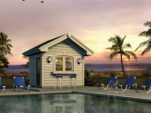 Sunshine Point Pool Cabana Plan 009D-7529