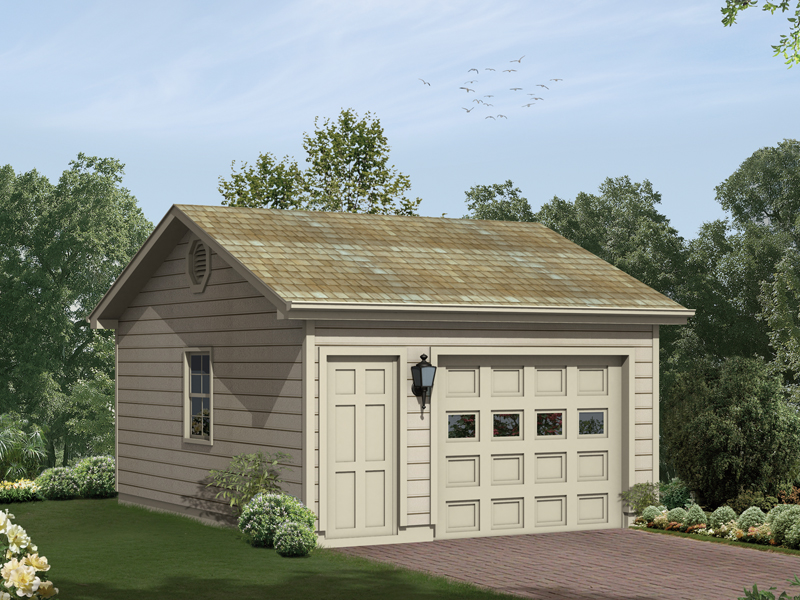 Bailey Hill OneCar Garage Plan 063D6011  House Plans