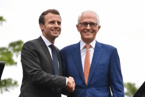 Macron Turnbull Aus visit May 1-3 2018