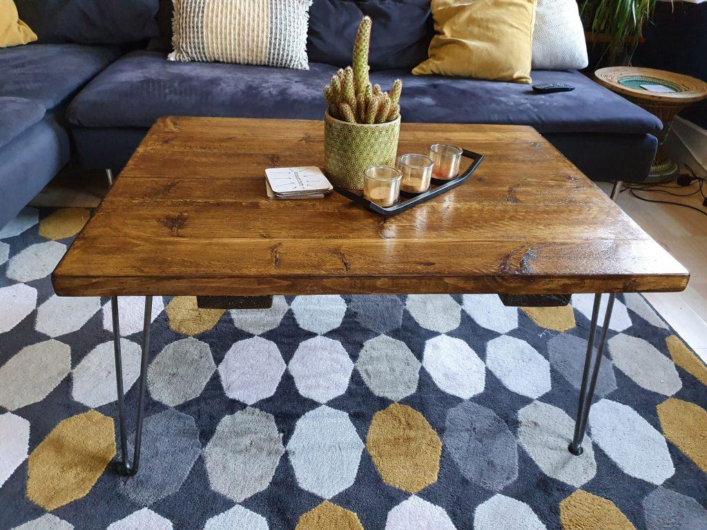 diy rustic reclaimed wood coffee table