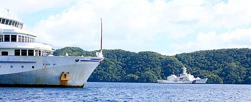 abandoned ship in palau