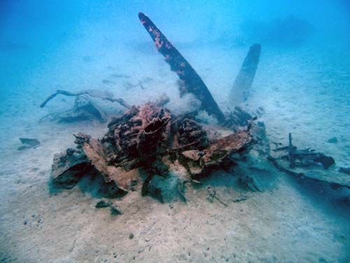 avenger prop and engine found in palau by bentprop