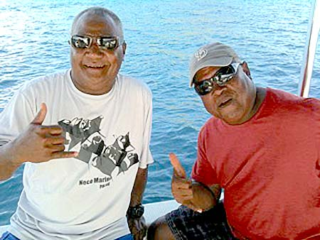 Charlie and joe on bentprop dive boat