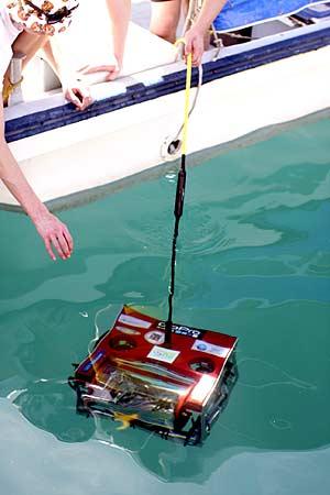 test diving underwater robot used by bentprop in palau