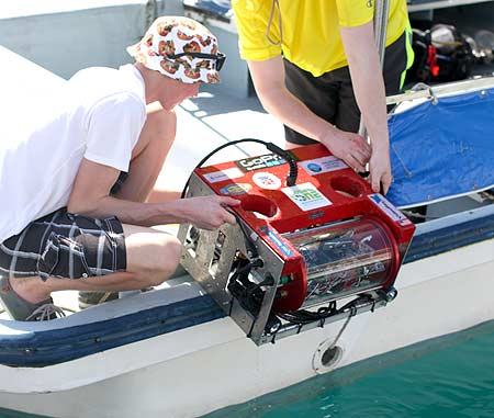 underwater robot used in aircraft searches by bentprop in palau