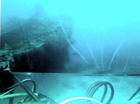 iphone screen shot from underwater robot used by bentprop in palau