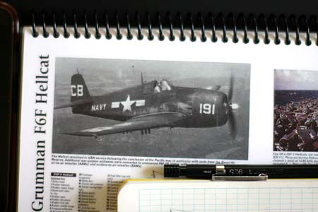 F6F Hellcat used as a reference for a drawing in palau with bentprop.org