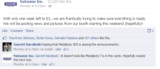 """""""It doesn't look like Medabots 7 is in the cards. Hopefully maybe the next one."""""""