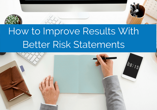 man writing better risk statements