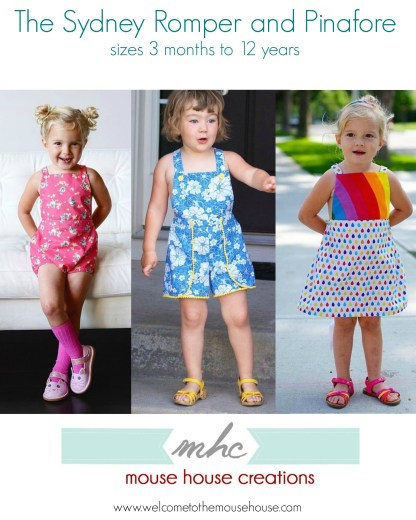 Sydney Pinafore by Mouse House Creations for Project Run & Play