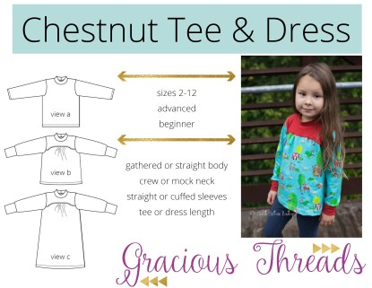 Chestnut Tee by Gracious Threads for Project Run & Play